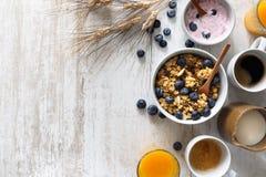 Läckra och sunda sädesslag för frukost Royaltyfri Fotografi