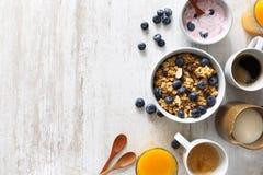 Läckra och sunda sädesslag för frukost Royaltyfri Bild