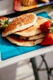 läckra pannkakor Fotografering för Bildbyråer