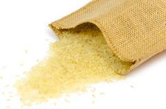 Läckra rå ris för sunt bantar isolerat Fotografering för Bildbyråer