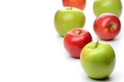 Läckra röda och gröna äpplen Royaltyfri Fotografi