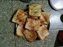 läckra smörgåsar Royaltyfria Bilder