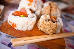 Läckra Sushi arkivfoto