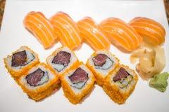 läckra sushi Arkivbilder