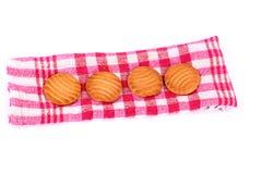Läckra vegetariska kakor för mellanmålmatkasju royaltyfri bild