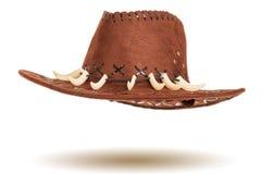 läder för cowboyhatt Royaltyfria Foton