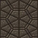 läder texturerad tegelplatta Royaltyfri Fotografi