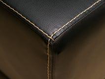 Läder texturerar närbild Royaltyfria Bilder
