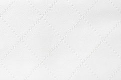 läder vadderad white Arkivfoto