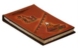 läderanteckningsbok Arkivbild