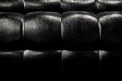 Läderbakgrund för mörk svart Royaltyfri Bild
