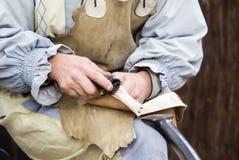 Läderhantverkare Arkivbild