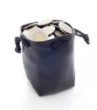 Lädermoneybag Arkivbild