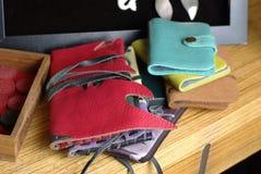 Läderplånböcker Arkivbild