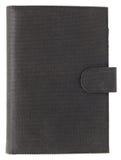 Läderräkningsbok som isoleras på vit Fotografering för Bildbyråer