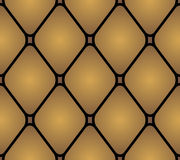 Läderstoppningmöblemang för prydnadpapper för bakgrund geometrisk gammal tappning Modell söm Arkivbilder