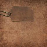 lädersuedeetikett Fotografering för Bildbyråer