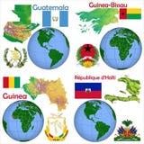 Läge Guatemala, Guinea Bissau, Guinea, Haiti Arkivfoto