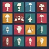 Lägenhet för hemmiljöelektricitetsutrustning - illustration Arkivfoto