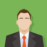 Lägenhet för stående för affärsmanprofilsymbol manlig vektor illustrationer