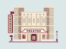 Lägenhet för teaterbyggnadsdesign Arkivbild