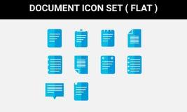 Lägenhet för uppsättning för dokumentsymbol vektor illustrationer