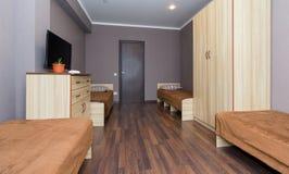 Lägenhet i ett billigt hotell Royaltyfri Fotografi
