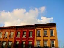 lägenhetbrooklyn rad Fotografering för Bildbyråer