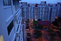 Lägenheter för Singapore allmännyttan HDB Arkivbilder