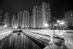 lägenheter Hong Kong arkivfoto