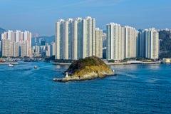 Lägenheter i Aberdeen Hong Kong Royaltyfria Foton