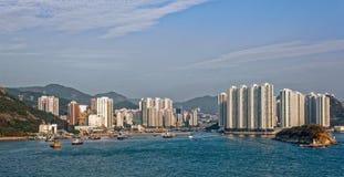 Lägenheter i Aberdeen Hong Kong Arkivbild
