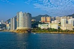 Lägenheter i Aberdeen Hong Kong byggande i kärret Shui utformar Royaltyfri Bild