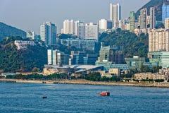 Lägenheter i Aberdeen Hong Kong byggande i kärret Shui utformar Royaltyfria Foton