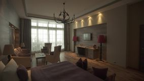 Lägenheter i hotell lager videofilmer