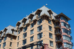 Lägenheter i Whistlerby Royaltyfri Foto