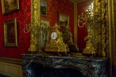Lägenheter Napoleon III på Louvre Arkivbilder