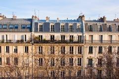 Lägenheter. Paris. Arkivbild