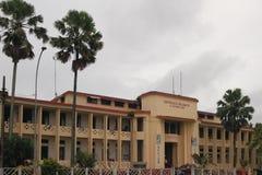 lägenheter som bygger arbete för ställe för affärskontor Toamasina Madagascar Arkivbild