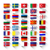 Lägenhetflaggor Arkivfoton