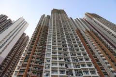 lägenhethus i Aberdeen Hong Kong Arkivfoton