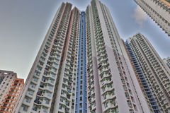 lägenhethus i Aberdeen Hong Kong Royaltyfri Fotografi