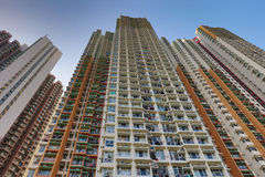 lägenhethus i Aberdeen Hong Kong Arkivfoto