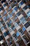 Lägenhethus i Hong Kong Arkivfoto