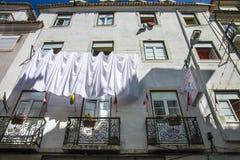 Lägenhethus i Lissabon Fotografering för Bildbyråer