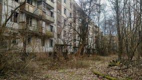 Lägenhethus i Pripyat Royaltyfri Foto