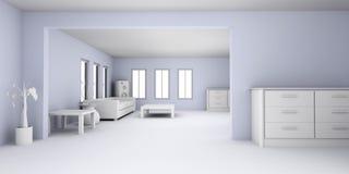 Lägenhetinre Royaltyfri Bild