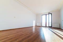 Lägenhetinre med trägolvet Fotografering för Bildbyråer