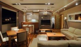 lägenhetinterior Royaltyfria Bilder