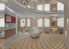 lägenhetinteriorlivsstilar Royaltyfri Foto